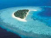 una spiaggia delle maldive....